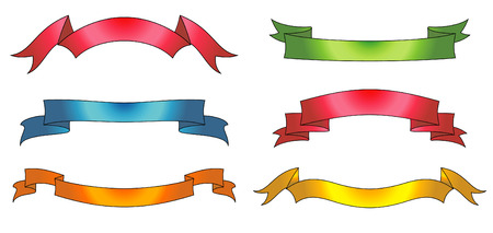 Set of vector ribbons and scrolls Stock Vector - 4961694