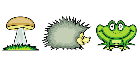 Set of funny vector illustrations Vector