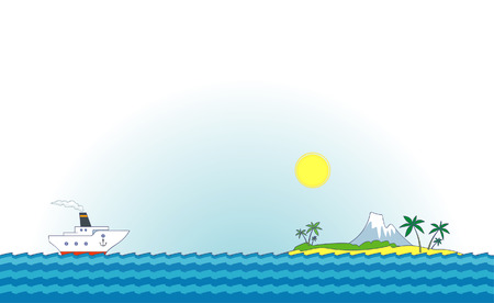 Sea cruise – Vector illustration Stock Vector - 4961708