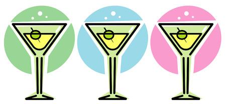 Martini Glasses – Vector illustration