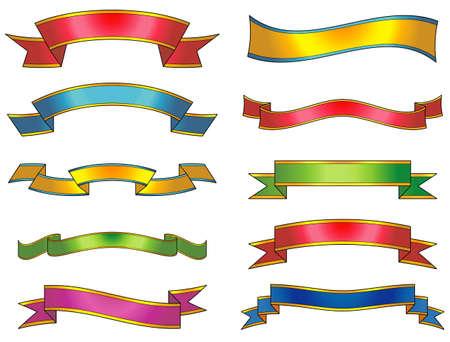 ribbon vector: Set of vector ribbons and scrolls