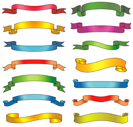 Set of vector ribbons and scrolls Stock Vector - 4961720