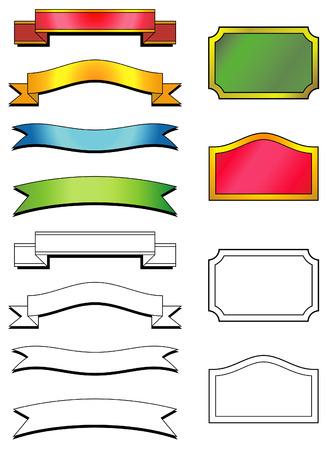Set of vector labels Stock Vector - 4961685