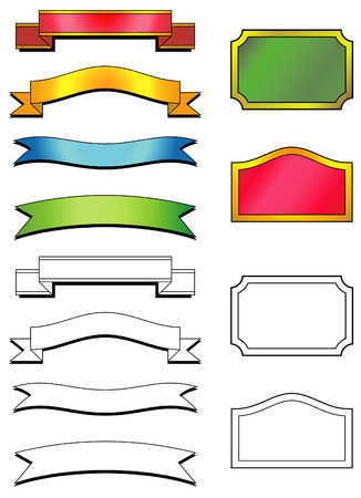 Set of vector labels Stock Vector - 4961685