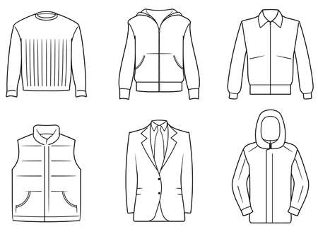 coat and tie: Mens clothes Illustration