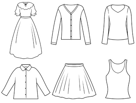 Women�s clothes Vector