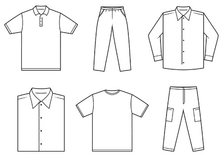 mens clothing: Mens clothes Illustration