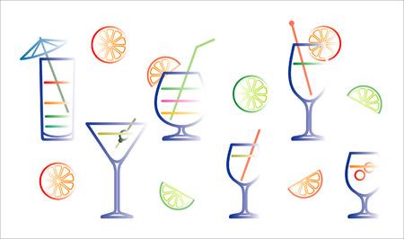 bocal: Cocktail illustrazione vettoriale Vettoriali