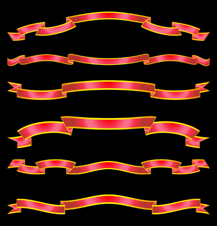 Set of vector ribbons and scrolls Stock Vector - 4961716