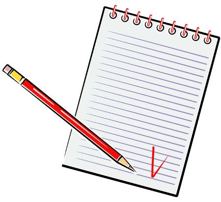 Pencil and Notebook (Vector) Stock Vector - 4961397