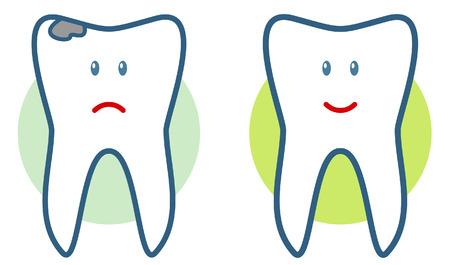holten: Voor en na (vector illustratie)