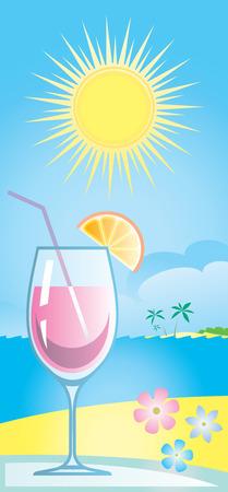 Cocktail Vector Illustration Stock Vector - 4961697