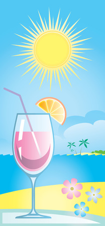 Cocktail Vector Illustration Stock Vector - 4961697