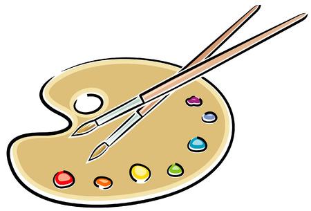 Artists Palette (Vector) Illustration