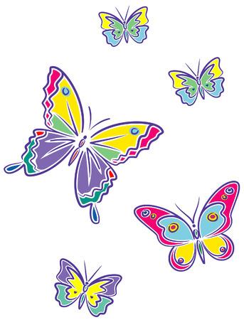 Butterflies (Vector) Stock Vector - 4961698