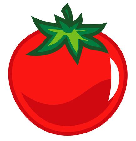 dietetic: Fresh tomato vector illustration