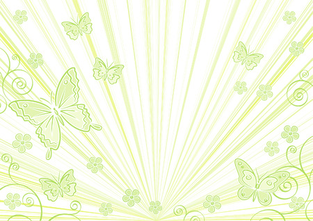 Green floral background (Vector) Vector