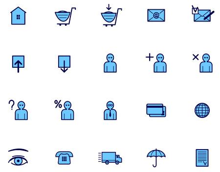 E-Commerce Vector Icon Set Vector
