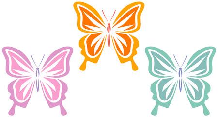 アクアマリン: 蝶 (ベクトル)