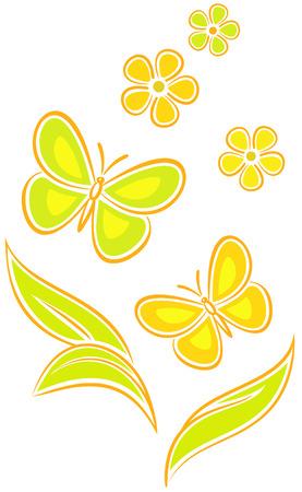 Butterflies (Vector) Stock Vector - 4961563