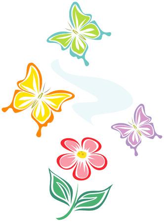 Butterflies (Vector) Stock Vector - 4961559