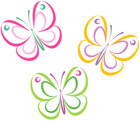 Butterflies (Vector) Stock Vector - 4961384