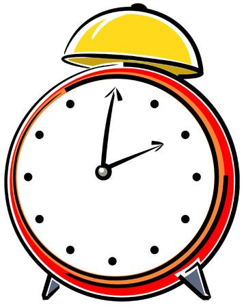 Alarm clock. Vector illustration Vector