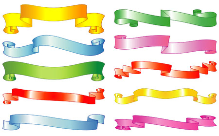 Set of vector ribbons and scrolls Stock Vector - 4961723