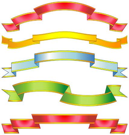 Set of vector ribbons Stock Vector - 4961711