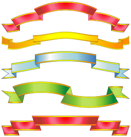 Set of vector ribbons Stock Vector - 4961711