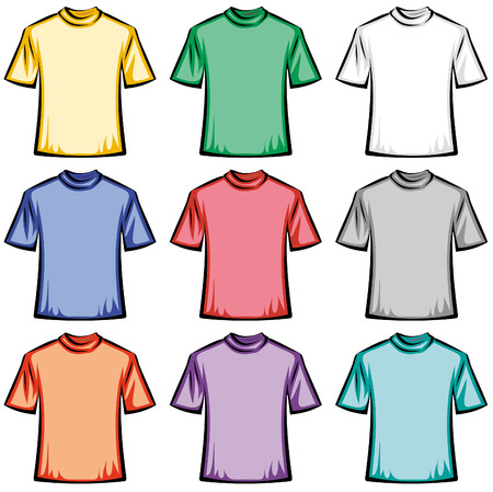 Blank T-shirts illustration Stock Vector - 4971806