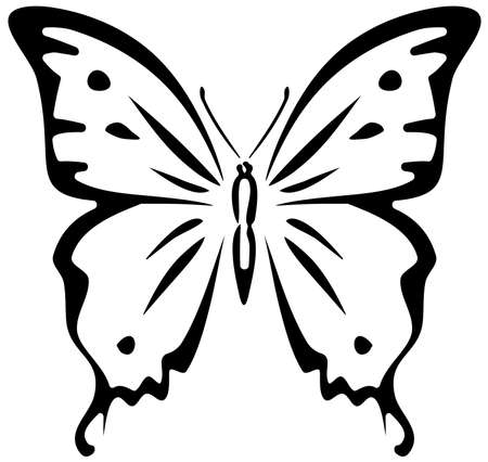 vector artwork: Butterfly (stencil)