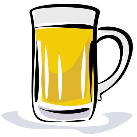 Beer illustration Stock Vector - 4971684
