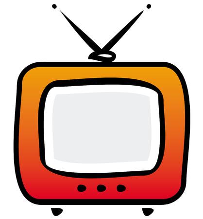 TV-set. Vector illustration Vector