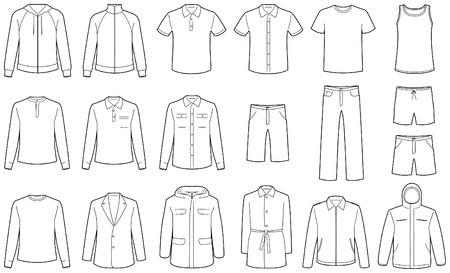 洋服: 分離されたメンズ服  イラスト・ベクター素材