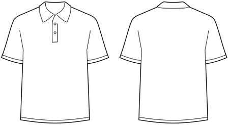 ポロ: ポロシャツ - フロントとバックビュー分離