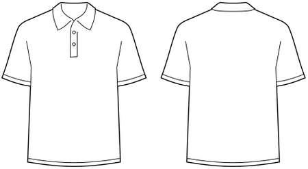 polo: Polo shirt - voorzijde en rug weergave geïsoleerd  Stock Illustratie