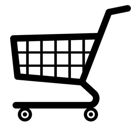 icon shopping cart: Warenkorb-Symbol (Vector) Illustration