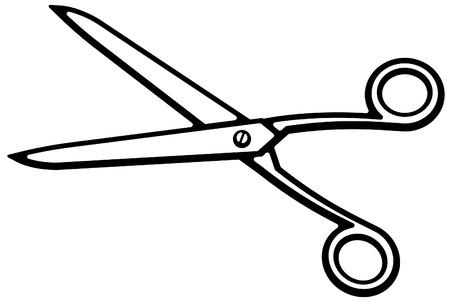 haircutting: Scissors (Vector) Illustration