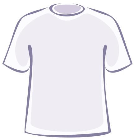 tee shirt template: Blank T-Shirt (Vector) Illustration