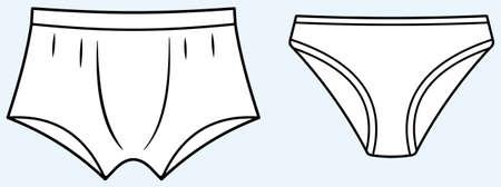 vrouw ondergoed: Ondergoed (vector) Stock Illustratie