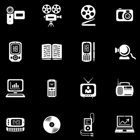 Media - Vector Icons Set Stock Vector - 4971818