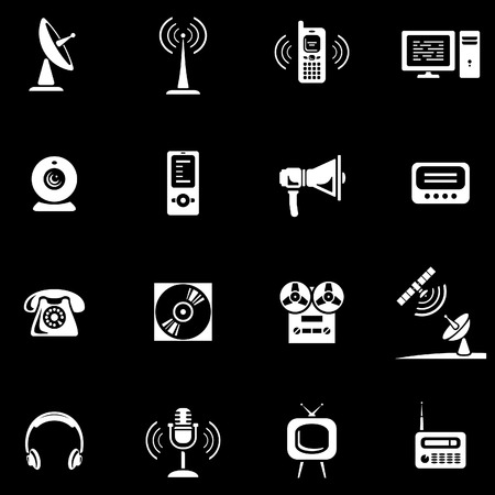 cd recorder: Media - Vector Icons Set