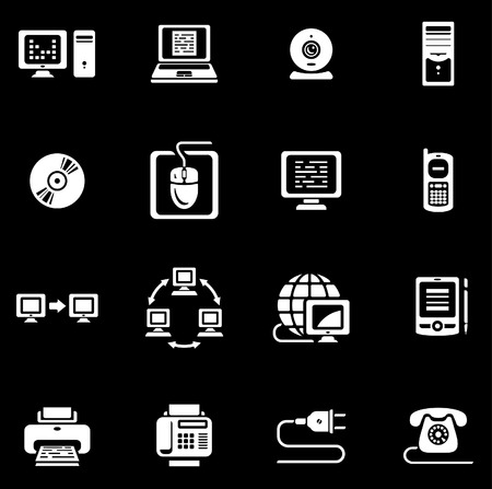 mobilephone: E-communications vector icon set Illustration