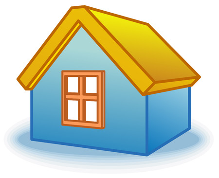 Small house icon (Vector) Vector