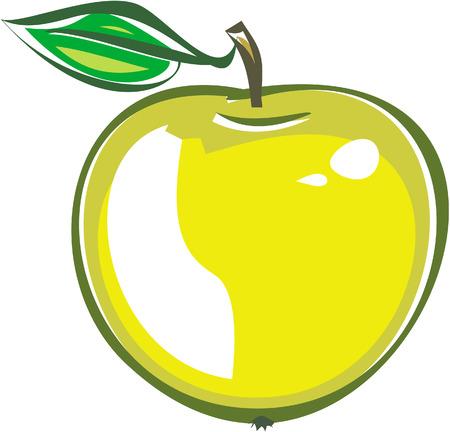 apple clipart: Apple (Vector)