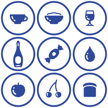 Icon set– food and drink (Vector) Stock Vector - 4971717