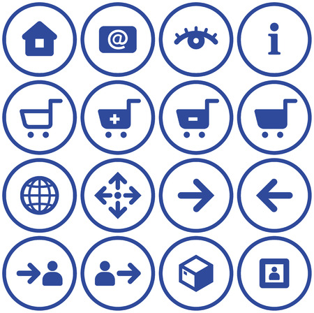 Vector E-Commerce Icon Set  Stock Vector - 4971757