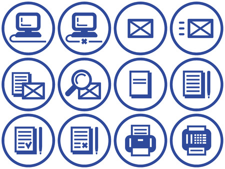 disconnect: Web icons set (Vector) Illustration