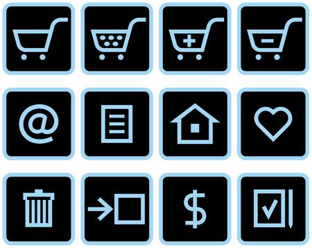Vector E-Commerce Icon Set Stock Vector - 4971714
